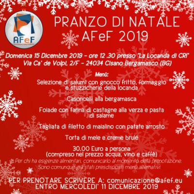 AFeF pranzo di natale 2019